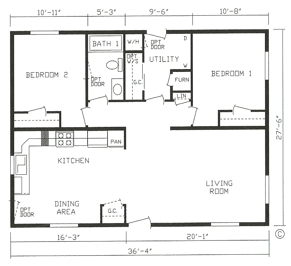 Best value home designs st cloud mankato litchfield mn for 28x36 cabin plans