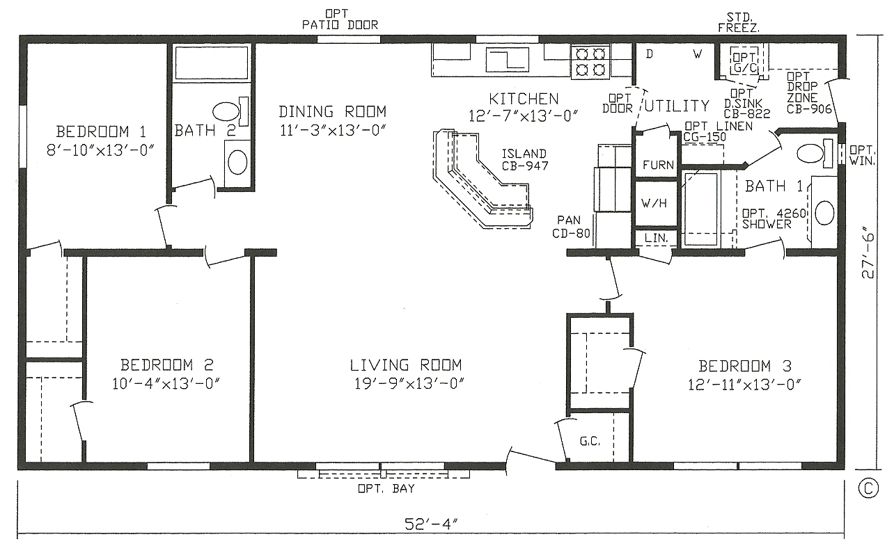 3 Bedroom Modular Home Plans » Manufactured Homes Floor Plans And ...